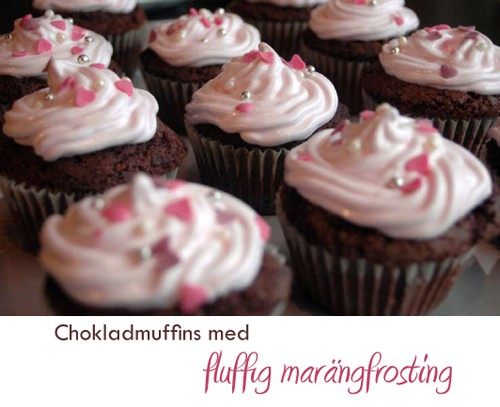 frosting till chokladmuffins