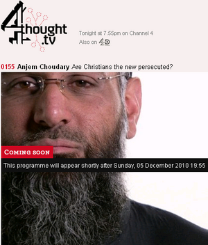 http://www.4thought.tv/4thoughts/0155-Anjem-Choudary-Are-Christians-the-new-persecuted- / screenshot