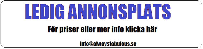 Annonsering p Alwaysfabulous.se