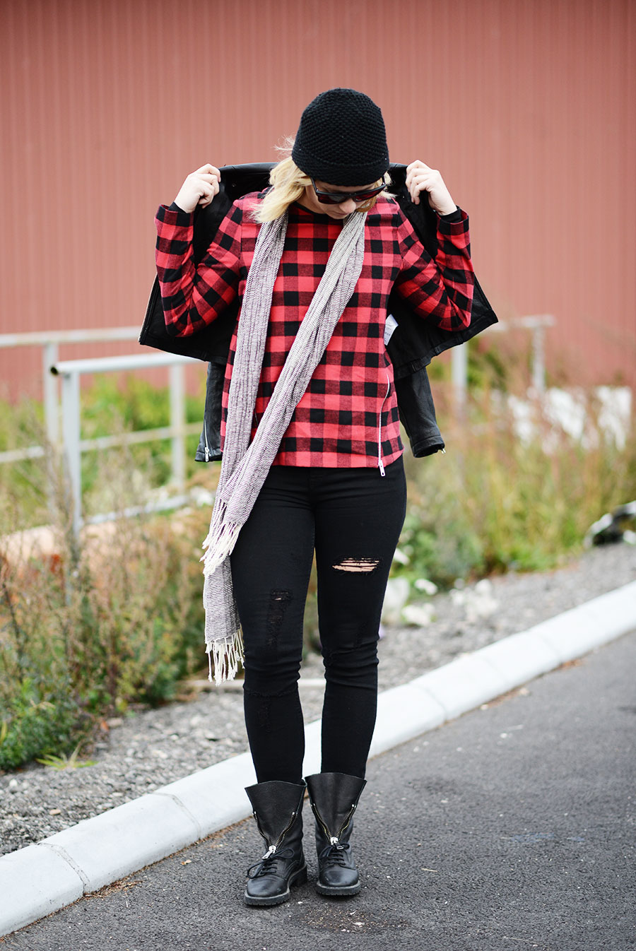 Red and plaid