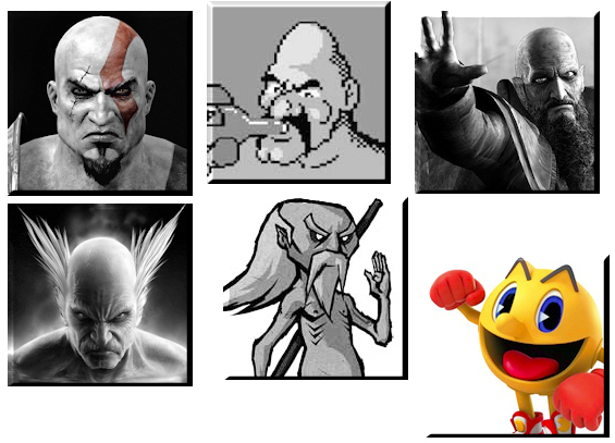Bald videogame characters