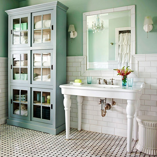 French Country Bathroom Flooring: Lantliga Brittiska Badrum