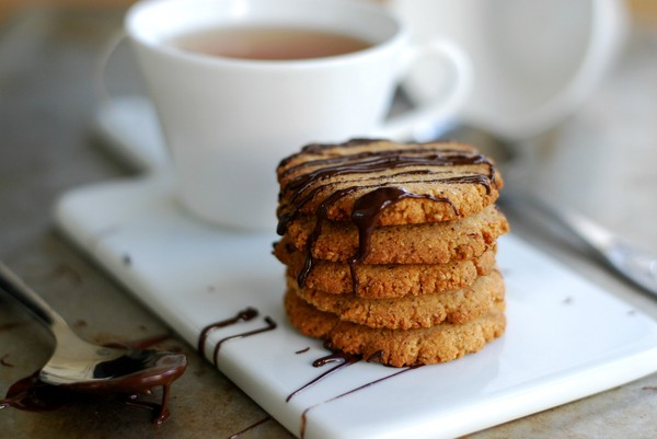 Healthy honey cookies (gluten free, no sugar added) - Hälsosamma honungskakor (glutenfritt, utan tillsatt socker)