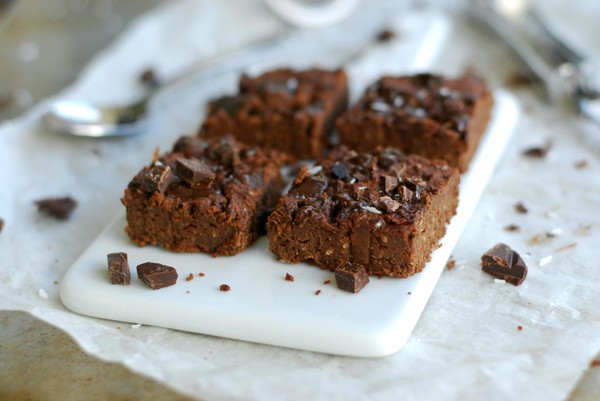 Healthy, vegan brownie with coffee - Hälsosam, vegansk kaffebrownie
