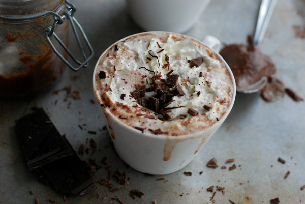 Nutella hot chocolate (no sugar added) - Varm choklad med nutella (utan tillsatt socker)