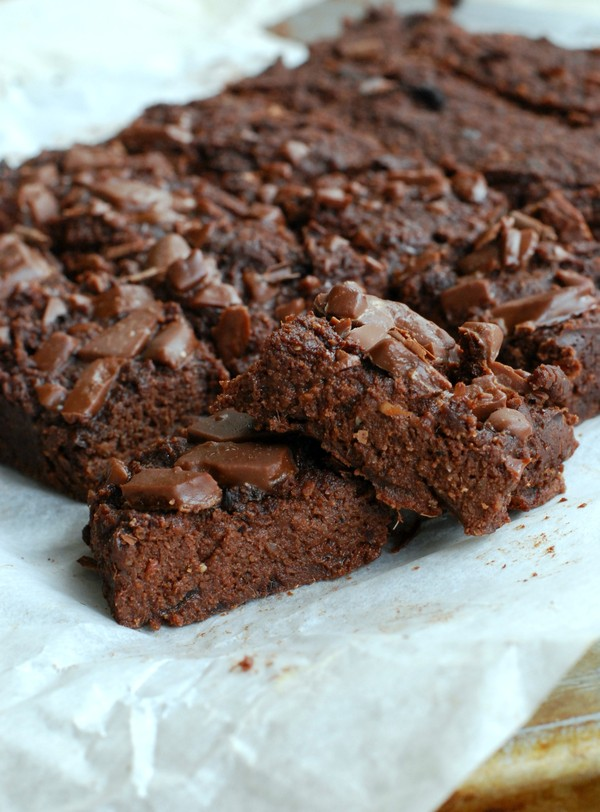 Healthy brownie (gluten free, no sugar added) - Hälsosam brownie (glutenfri, utan tillsatt socker)