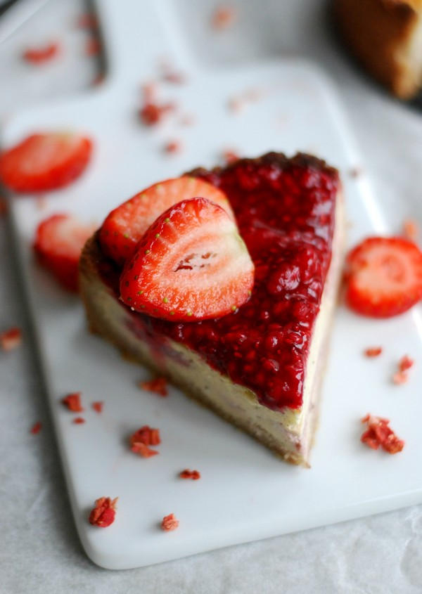 Healthy strawberry pie with vanilla - Hälsosam jordgubbspaj med vaniljfyllning