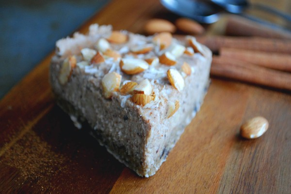 No bake cinnamon cake - pale