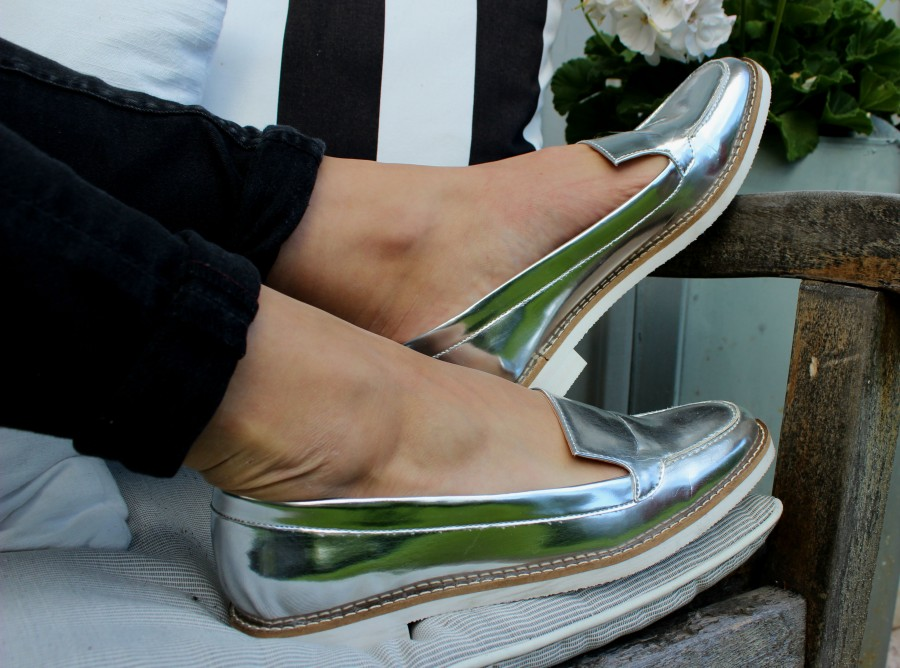 Silver loafers 2