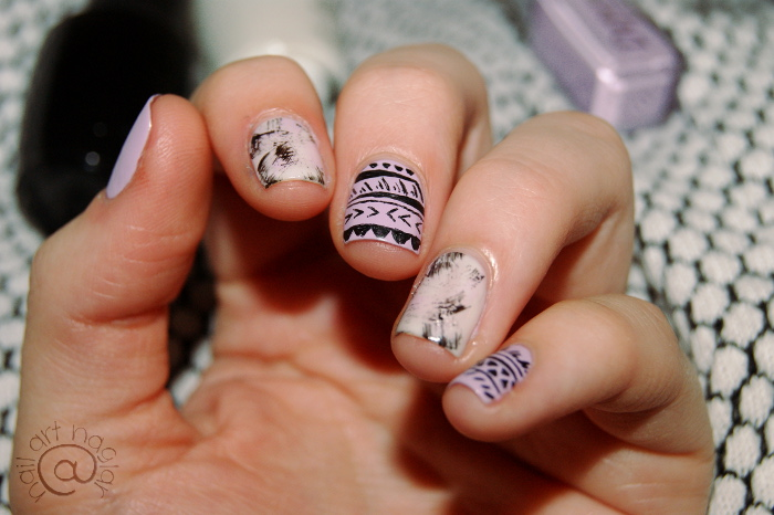 Tribal Pattern nail art