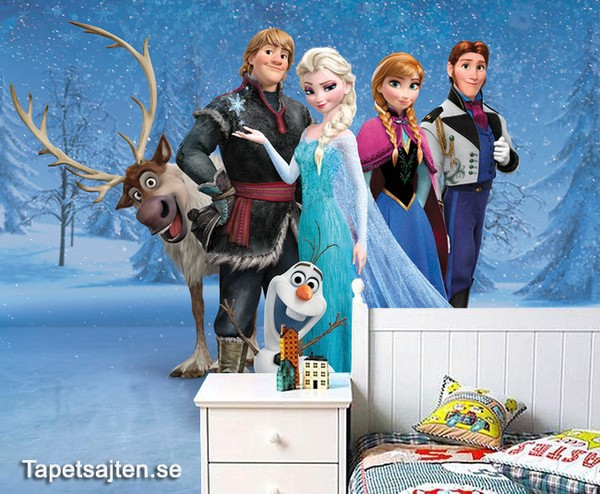 Flickrum Tapet  Fototapet Barn Tapet Disney Frost Frozen Barnrum Barntapeter Tjej Flicka Tjejtapet Flicktapet