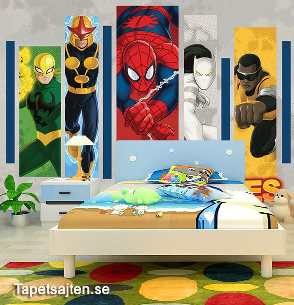 Fototapet Barn Marvel Spiderman Tapet Barnrum Barntapeter Kille Pojke Killtapet Pojktapet