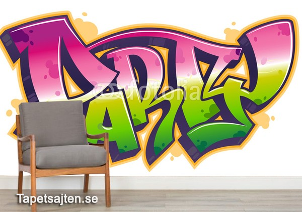 Graffiti Fototapet Graffiti Tapeter Text