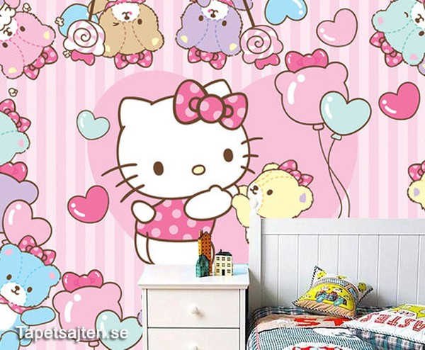 Hello Kitty tapet babytapet barnrum