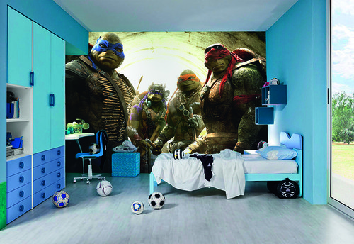 NinjaTurtles tapet ungdom killrum pojke 3d fototapet