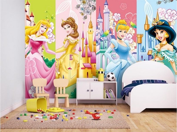 tapet flickrum tapet prinsessor disney slott tjejtapet flicktapet