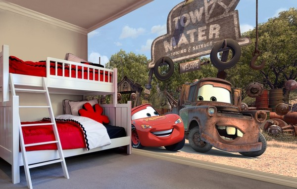 easy up tapet barn disney bilar car fototapet barnrum barntapet