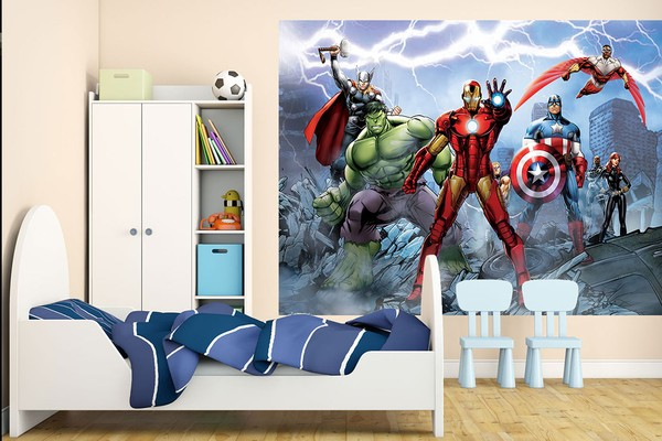 3d tapet barn marvel