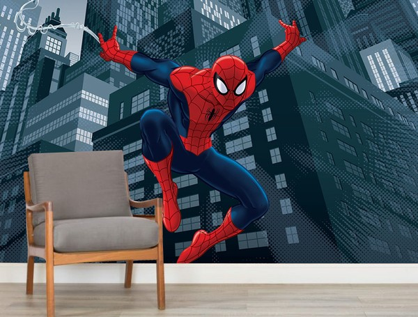 Spiderman Tapet Marvel Fototapet Superhjältar Tapet
