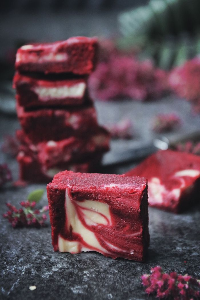 Cheesecake fyllda Red Velvet brownies5