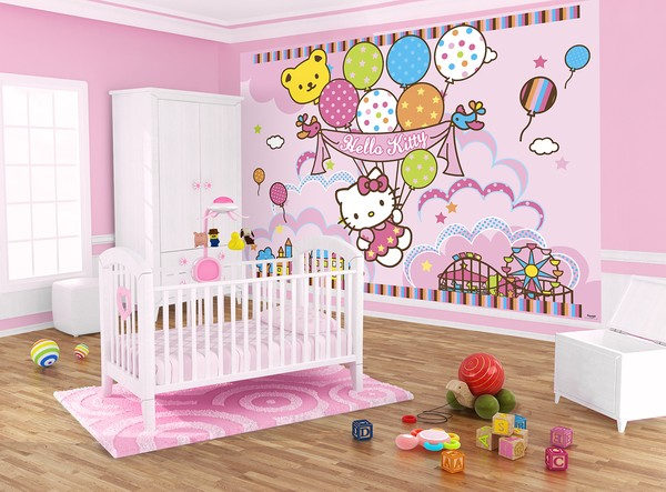 Fototapet barn Hello Kitty baby tapet