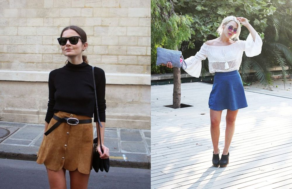 high waisted skirts