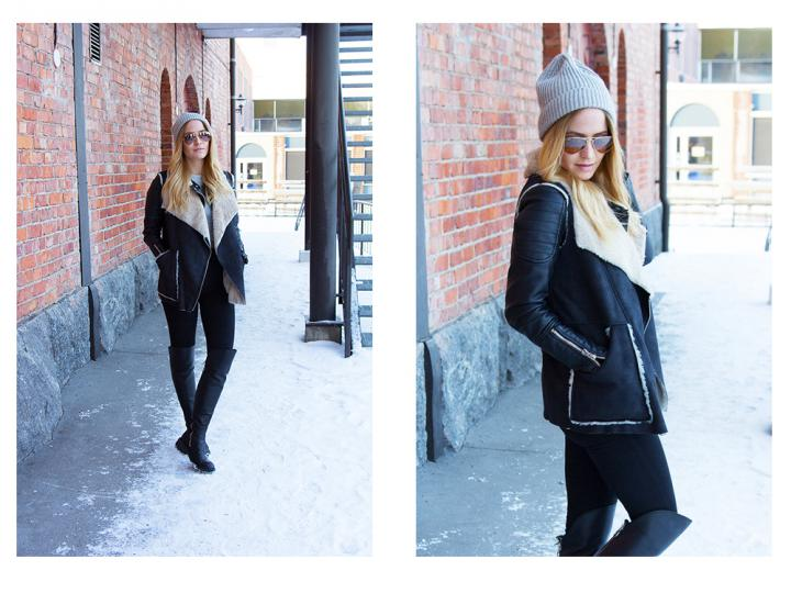 fashion blogger outfit winter hat