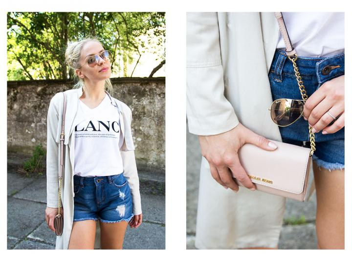 t shirt and jeans shorts outfit