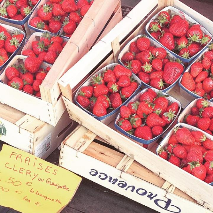 strawberries and fruite from france