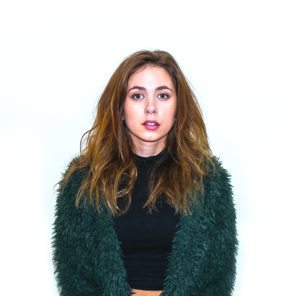 green fake fur sweater outfit