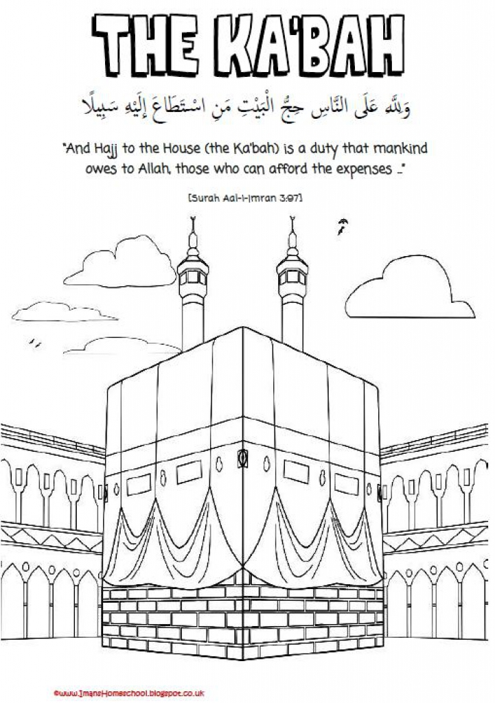 hajj coloring pages -