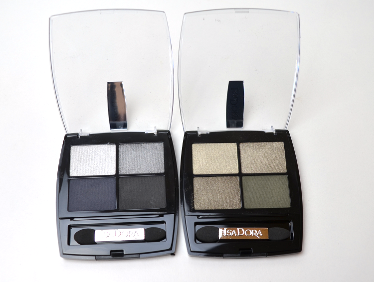 isadora rock and romance eye shadow quartet moon rock urban green