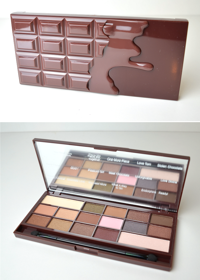 makeuprevolution i heart chocolate palette