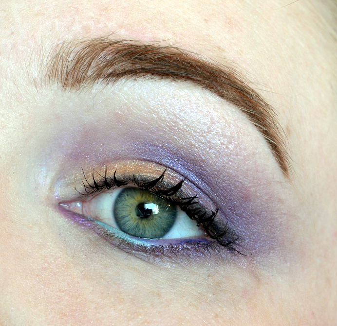 mint lila purple makeup look2
