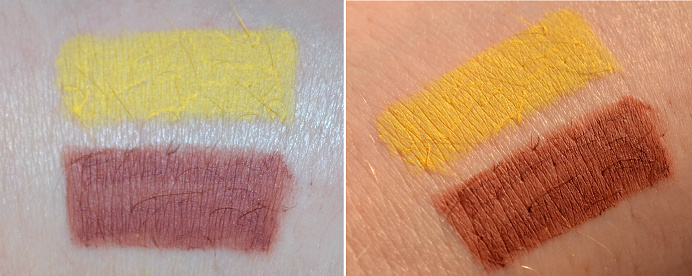 nyx eyeliner yellow lipliner mauve swatches.png