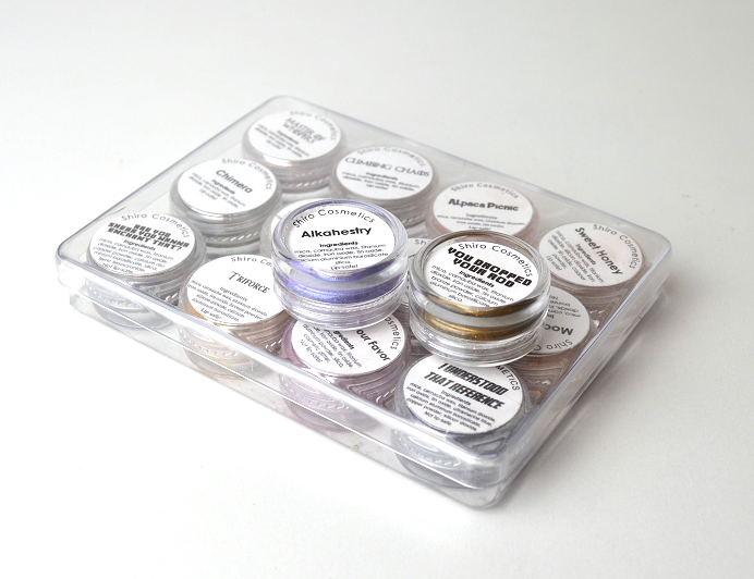 shiro eyeshadow storage pigment indie