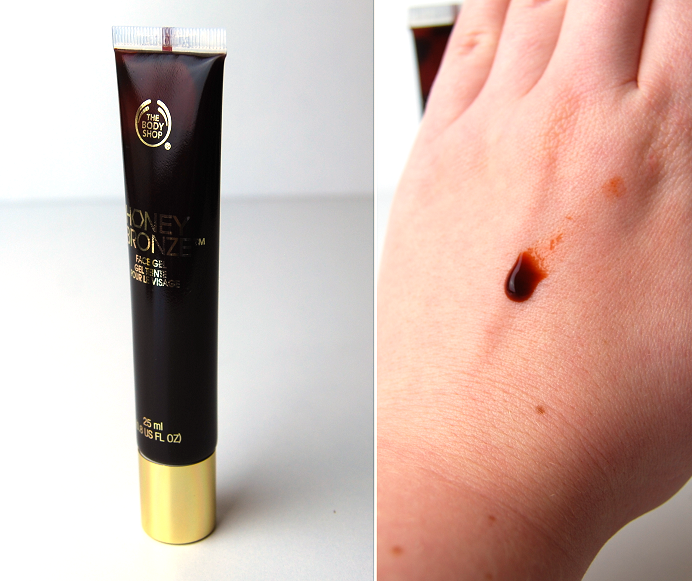 the body shop honey bronze tinted leg mist highlighting dome face gel2