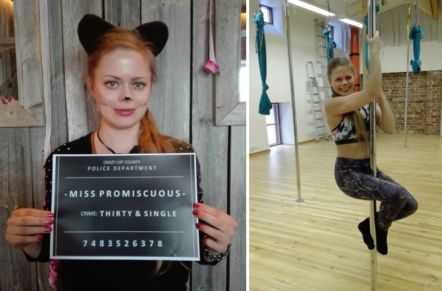 bachelorette activities: photo booth, mug shots, poledance session / möhippa aktiviteter: photobooth, mugshots och polefitness träningspass