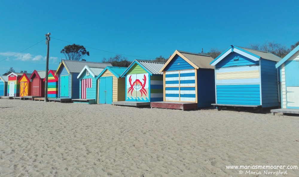 Bathing boxes on Brighton Beach, Melbourne, Australia