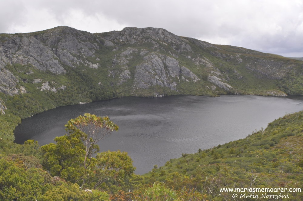 Cradle Mountain Tasmania, view of Crater Lake