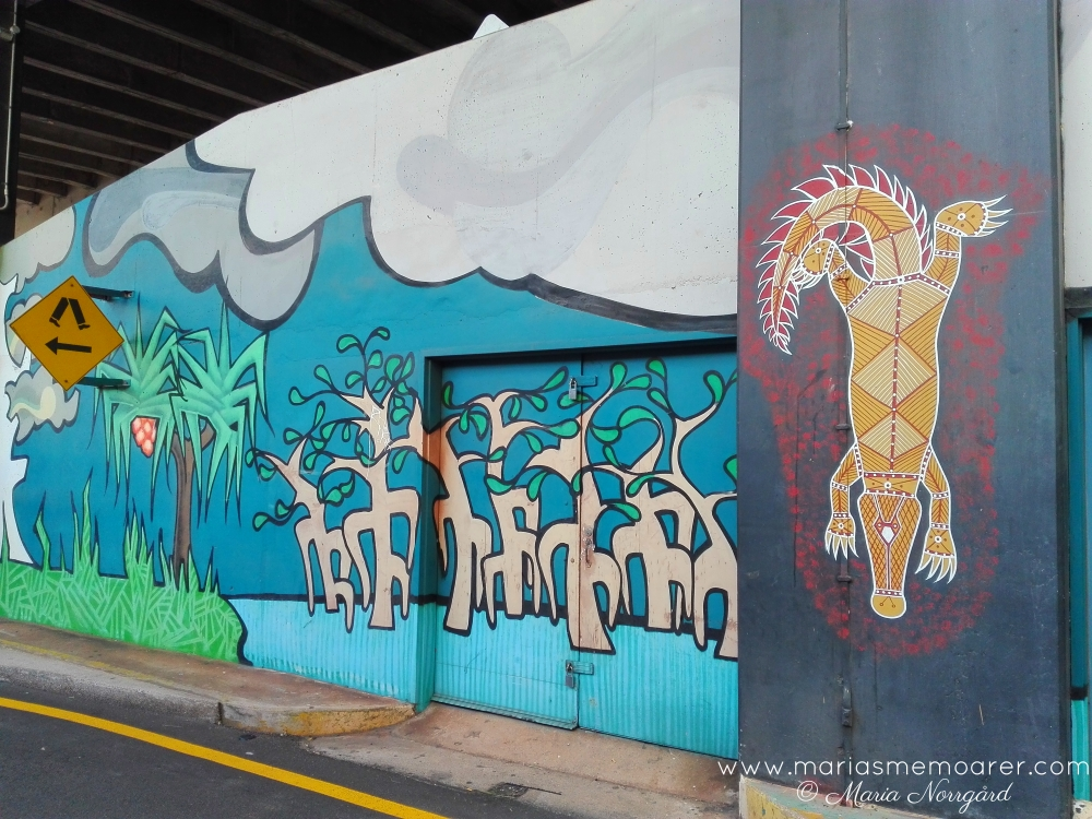 aboriginal inspired street art in Darwin, Australia
