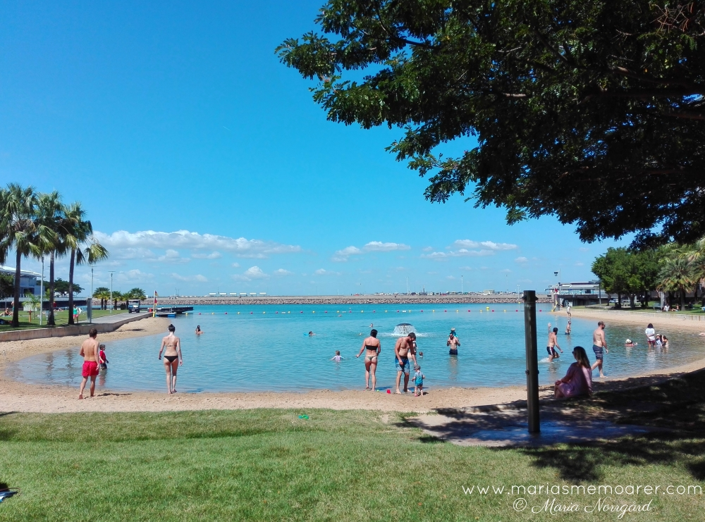 Darwin Recreation Lagoon - simstrand i Darwin, Australien