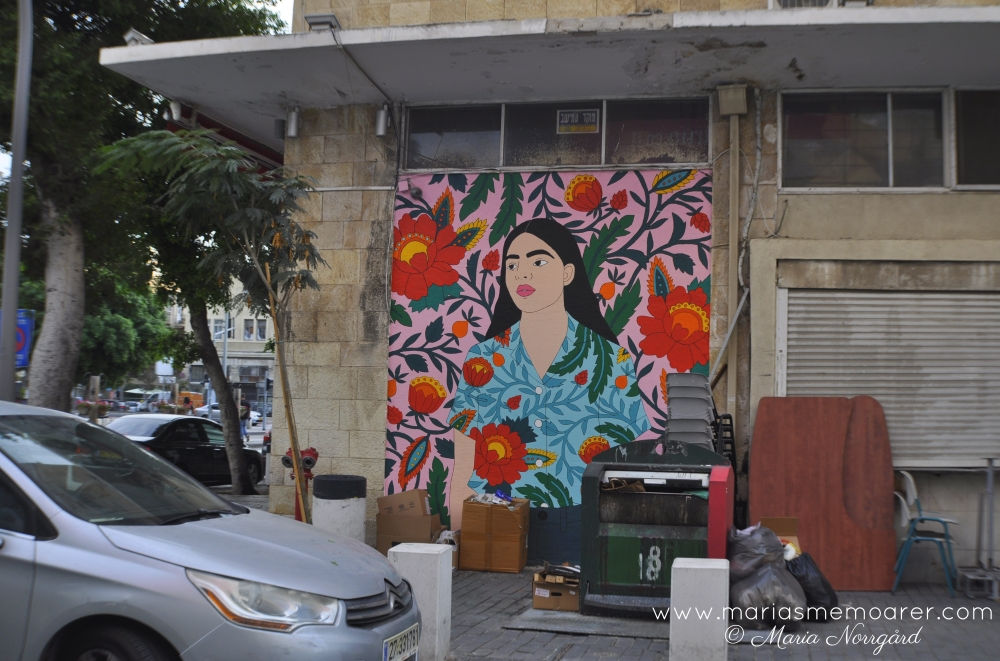 graffiti konst i Haifa downtown, Israel