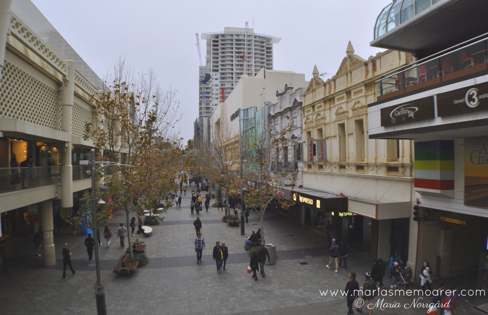 Shopping and streets of Perth, WA - Hay street
