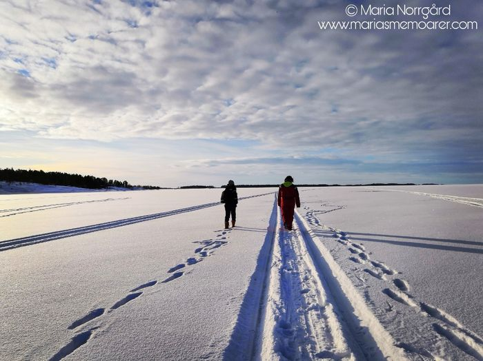 walking on frozen water in Finland