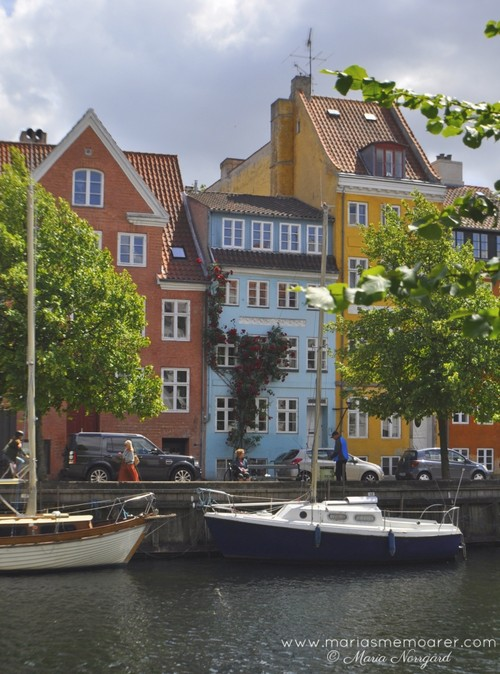colourful houses and boats in Christianshavn, Copenhagen