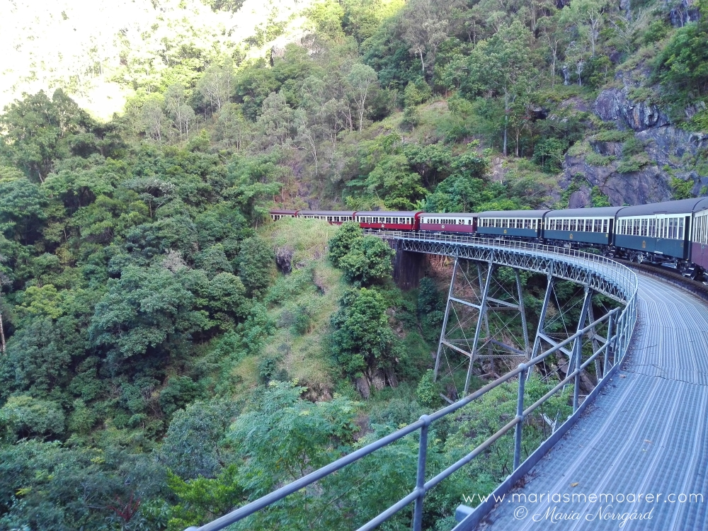 Kuranda Scenic Railway - epic views of Queensland rainforest on retro train / upplev Australiens regnskog på retrotåg