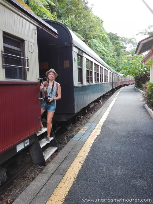 Kuranda Railway - retrotåg i Queensland, Australien