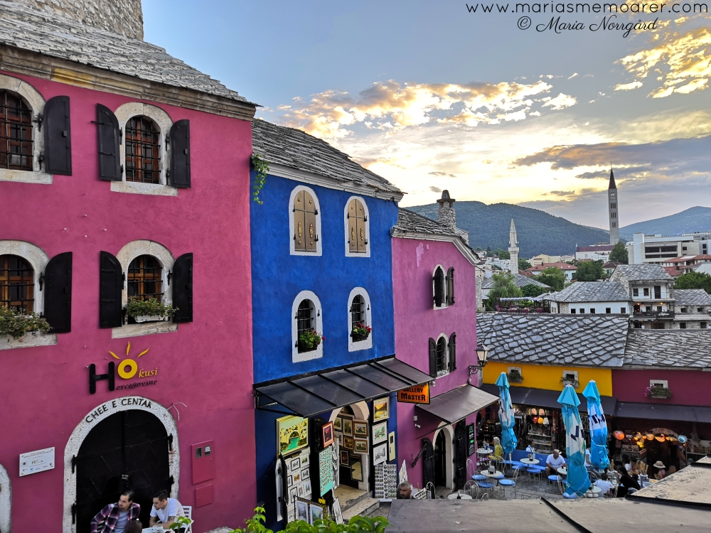 colourful buildings in Mostar, Bosnia