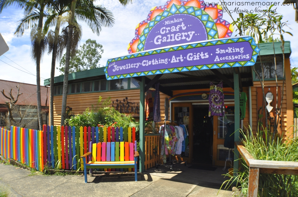 rainbow colours in Nimbin, near Byron Bay